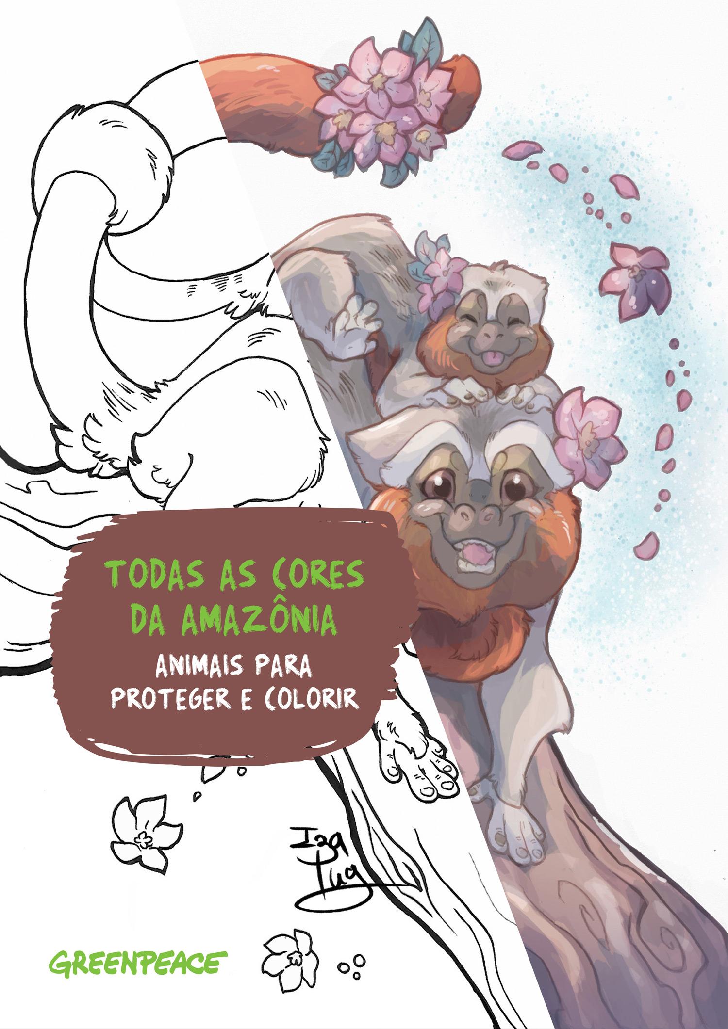 Todas as Cores da Amazônia - Animais para proteger e colorir